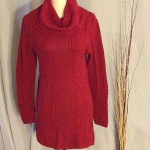 Jeanne Pierre Long cowl neck sweater.